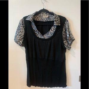 MKM Women's plus size collard shirt - 2X